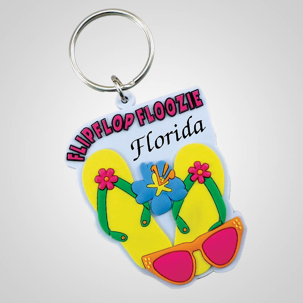 18301 - Flip Flop Floozie Keychain, Name-Drop