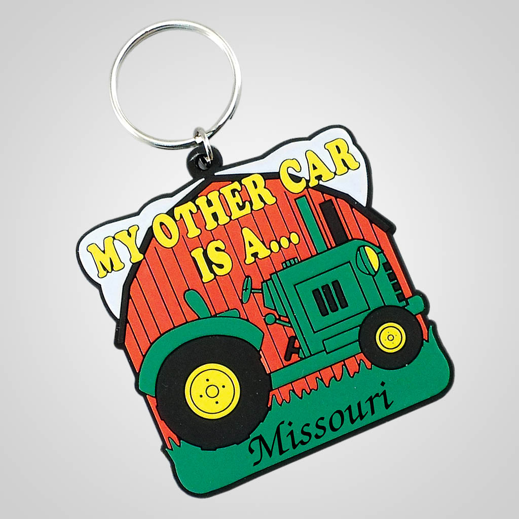 18302 - Other Car Is A Tractor Keychain, Name-Drop