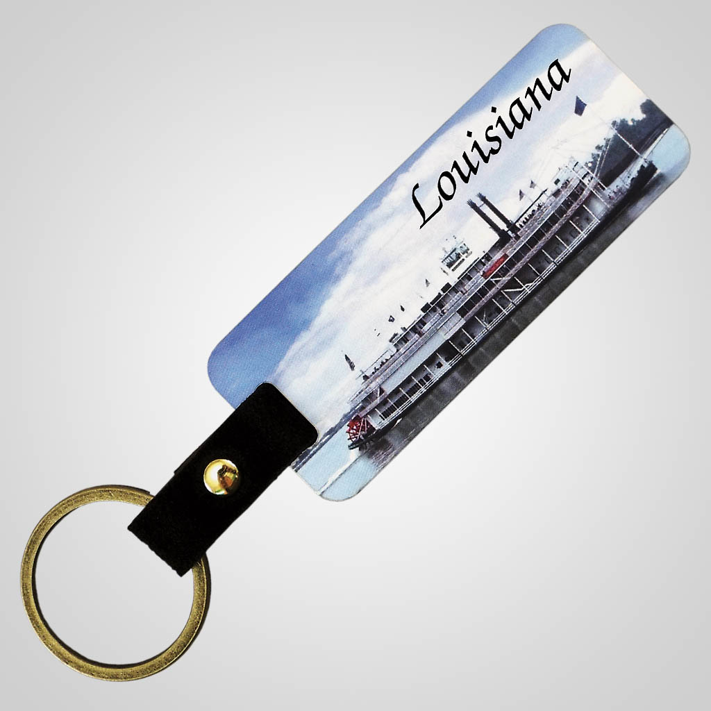 18305 - Full Color Riverboat Keychain, Name-Drop