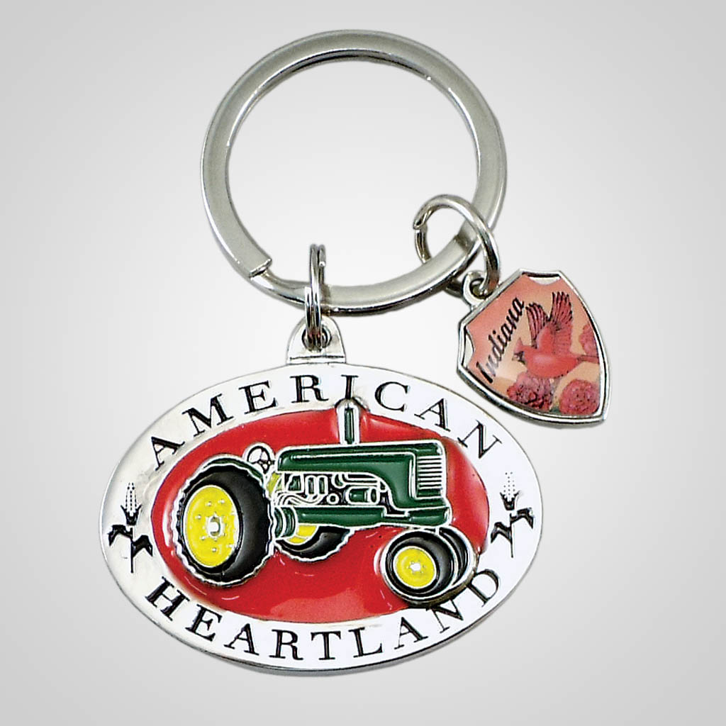 18311 - Tractor Keychain With Shield Charm