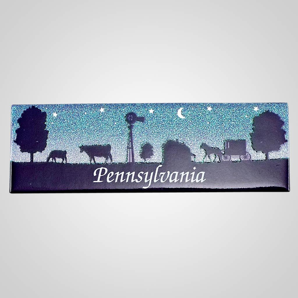 18316 - Amish Panorama Magnet, Name-Drop