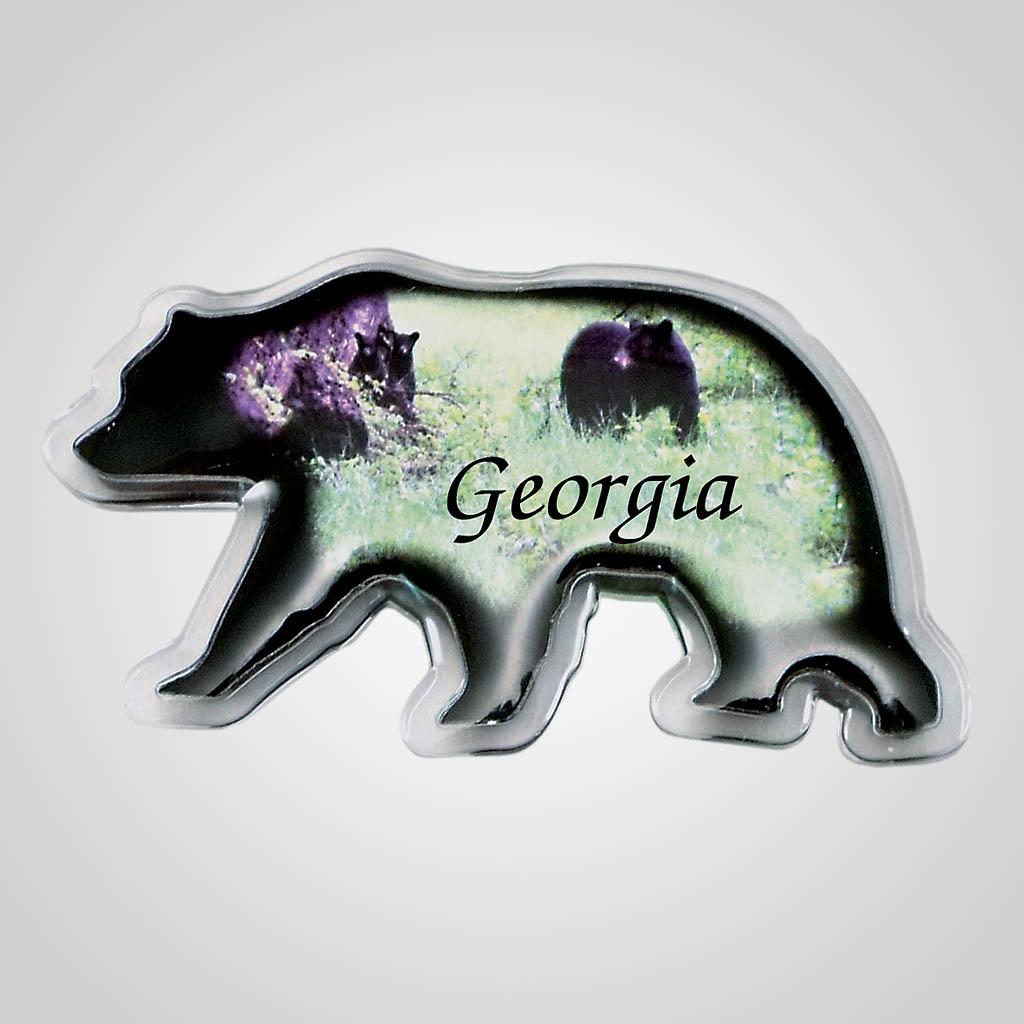 18320 - Bear Shaped Acrylic Magnet, Name-Drop