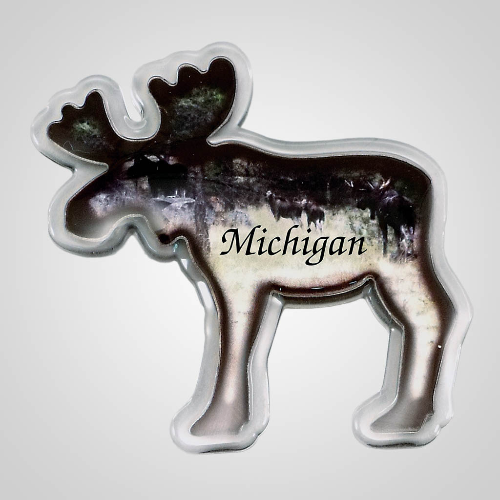 18321 - Moose Shaped Acrylic Magnet, Name-Drop