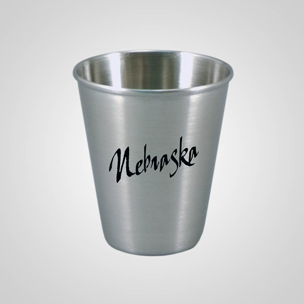 18325PP - Stainless Steel Shot Glass - 1 Color Print