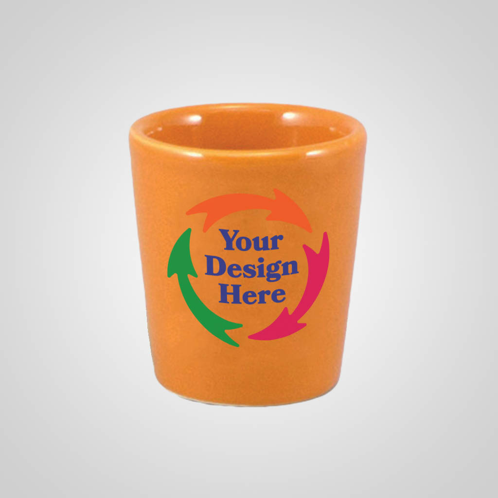 18332PPM - Orange Shot Glass - Multi - Color Print