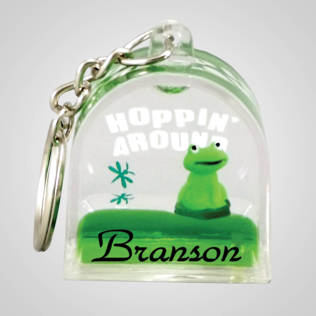 18336 - Floating Frog Keychain, Name-Drop