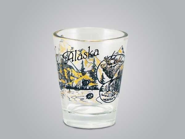 18456PP - Elk/Bear Shot Glass