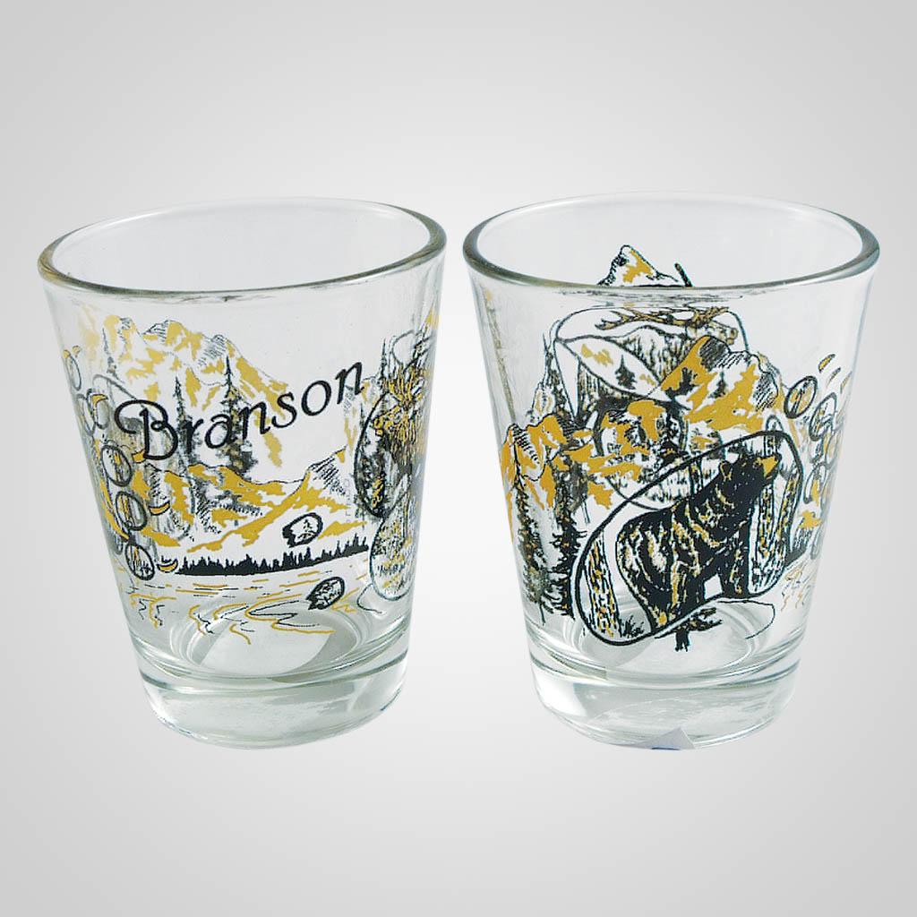 18456PP - Elk/Bear Shot Glass - Imprinted