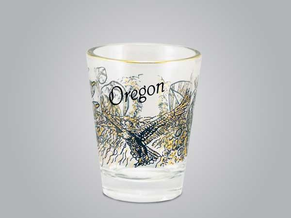 18457PP - Deer/Wolf/Eagle Shot Glass