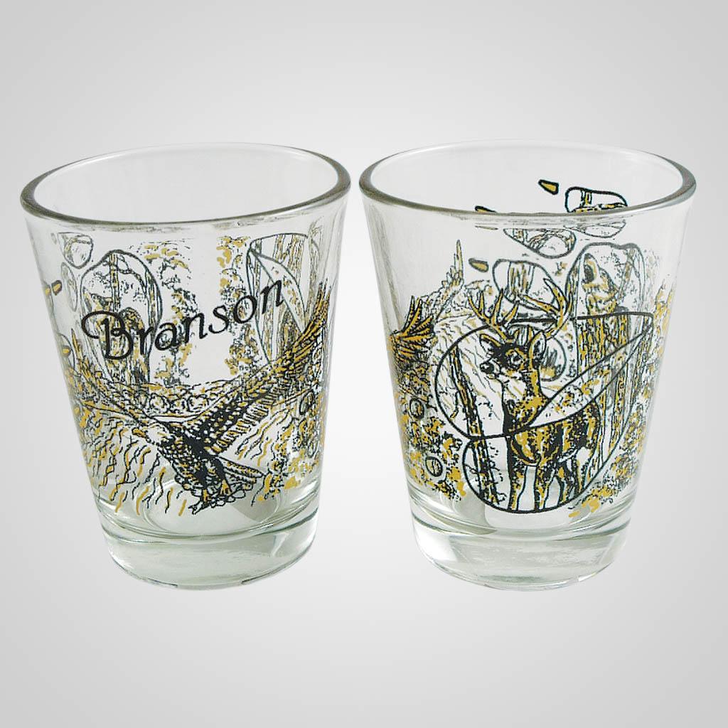 18457PP - Deer/Wolf/Eagle Shot Glass, Name-Drop