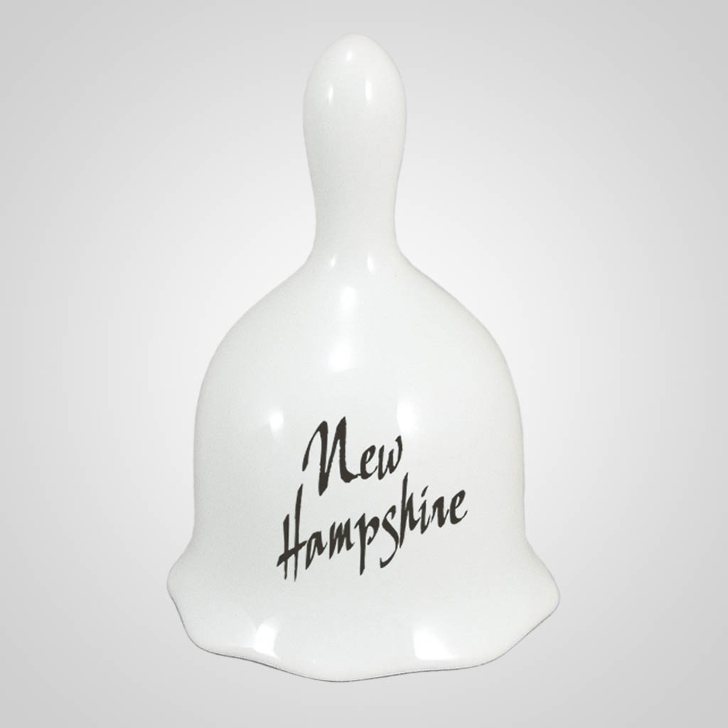 18458PP - White Ceramic Bell - 1 Color Print
