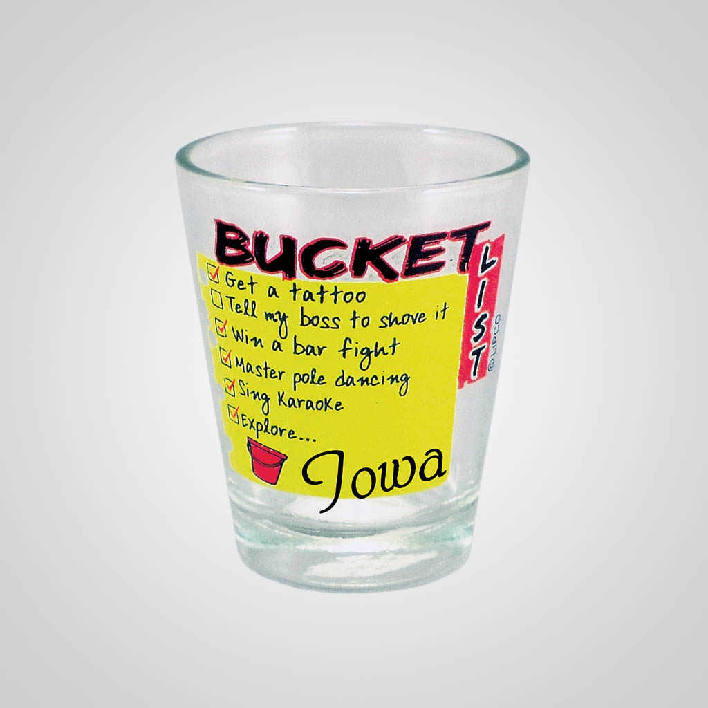 18463PP - Bucket List Shot Glass, Name-Drop