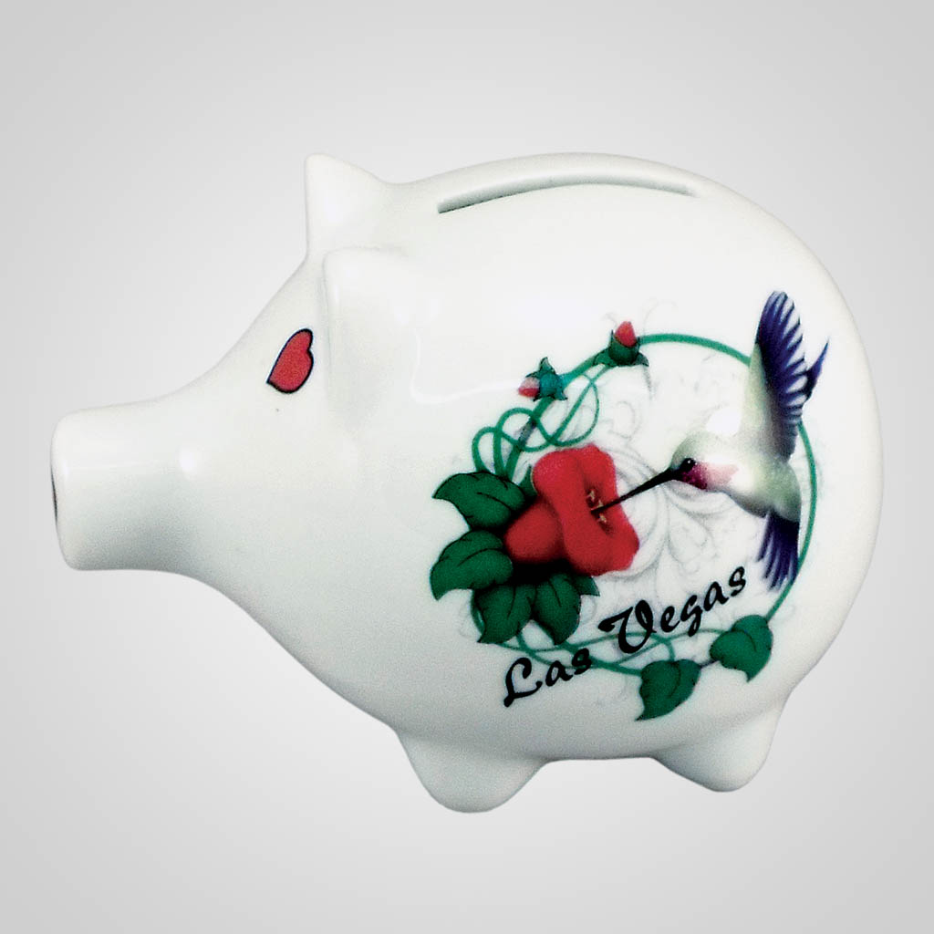 18469PP - Hummingbird Piggy Bank, Name-Drop