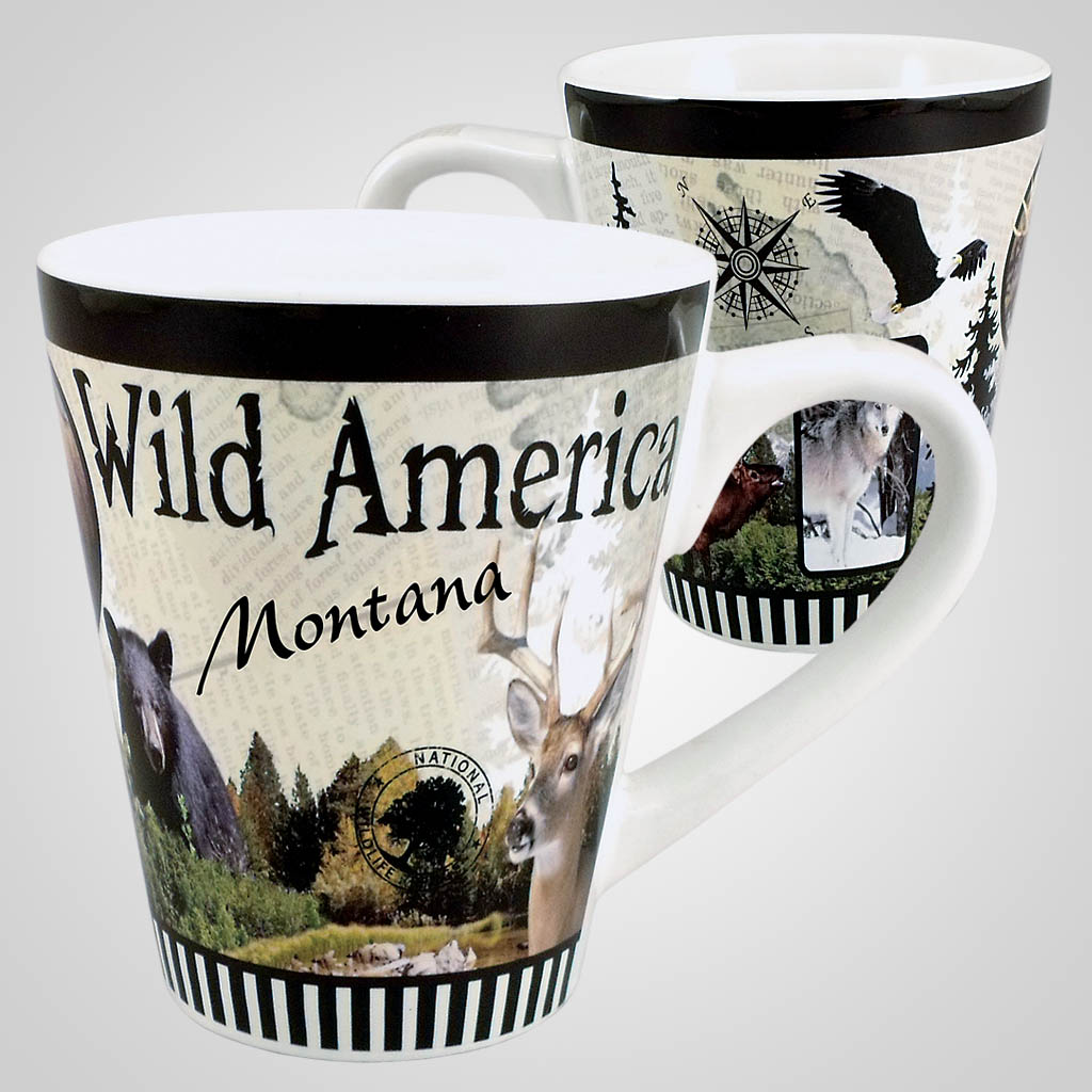 18472PP - Wilderness Full - Wrap Taper Mug - Imprinted
