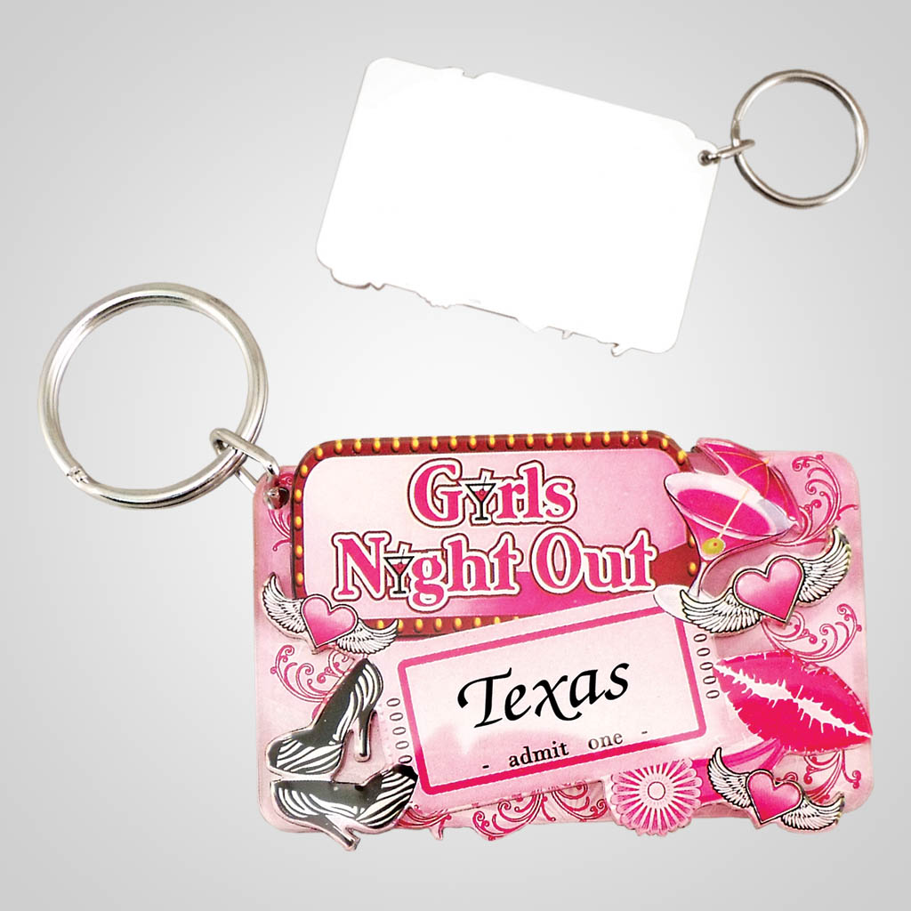 18475 - Girls Night Out Keychain, Name-Drop
