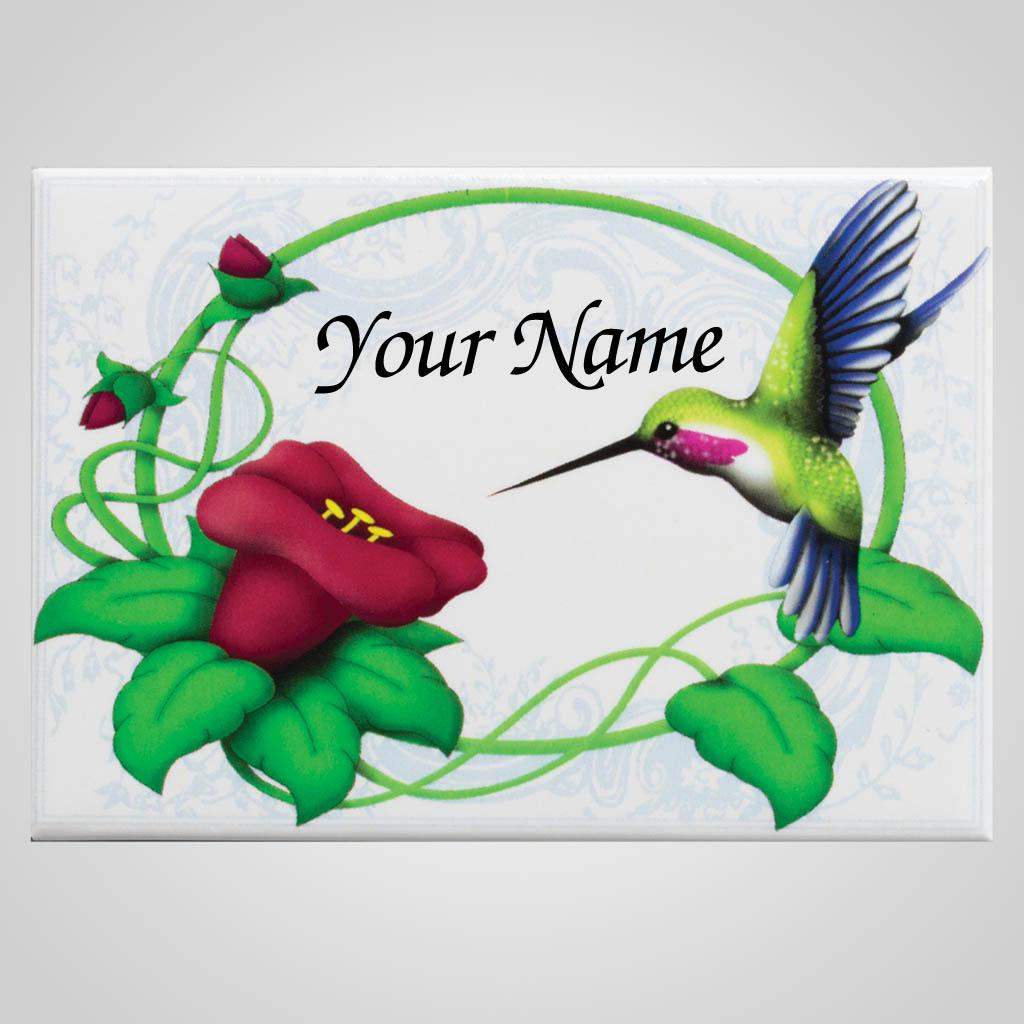 18478 - Hummingbird Magnet, Name-Drop