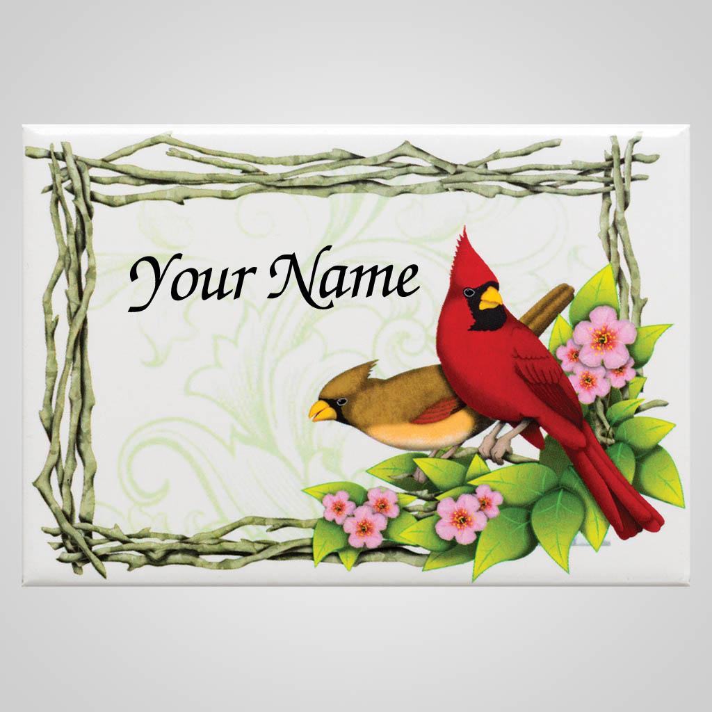 18479 - Cardinals Magnet, Name-Drop