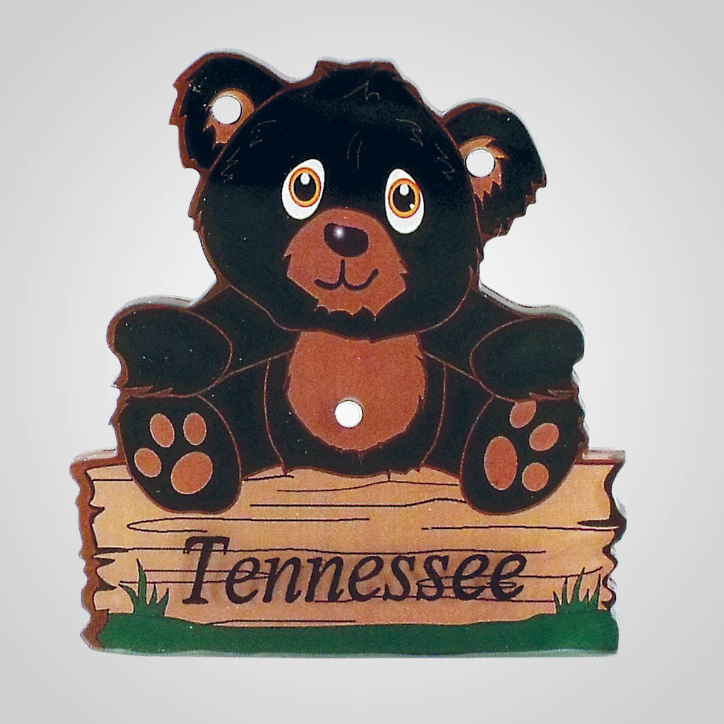 18482 - 2-Sided Bear Magnet, Name-Drop
