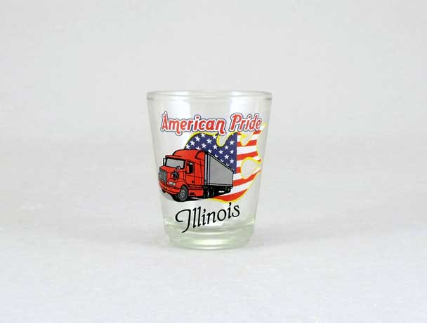 18484PP - American Pride Trucker Shot Glass