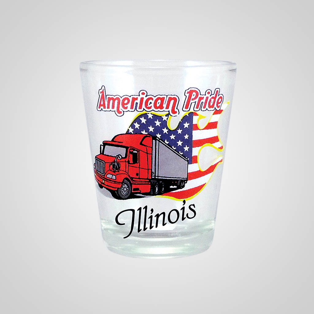 18484PP - American Pride Trucker Shot Glass, Name-Drop
