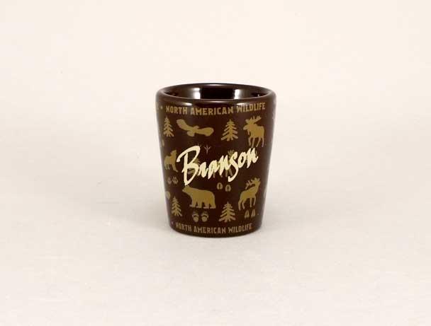 18485PP - Wildlife Wrap Ceramic Shot Glass