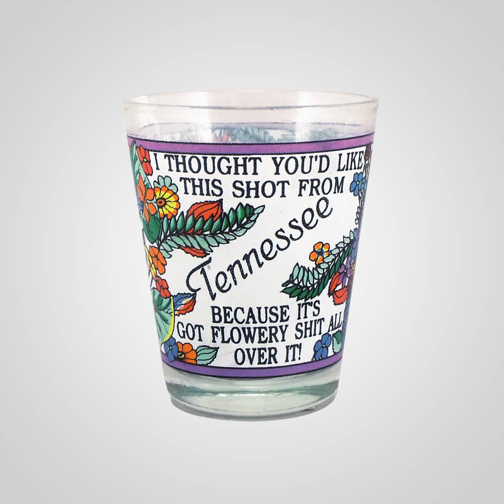 18486PP - Flowery Shit Shot Glass - Imprinted