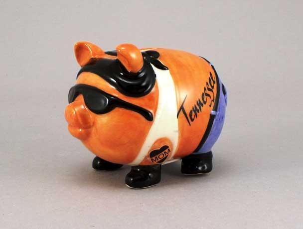 18492PP - Pork Chop Biker Piggy Bank