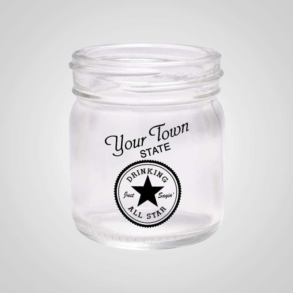 18867PP - Mason Jar Shot Glass - 1 Color Print