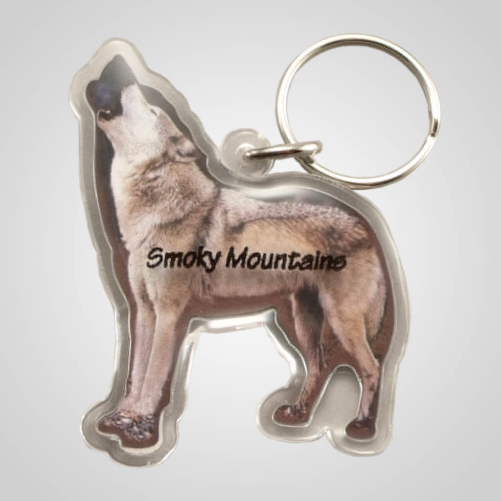 18872 - Wolf Shaped Acrylic Magnet, Name-Drop