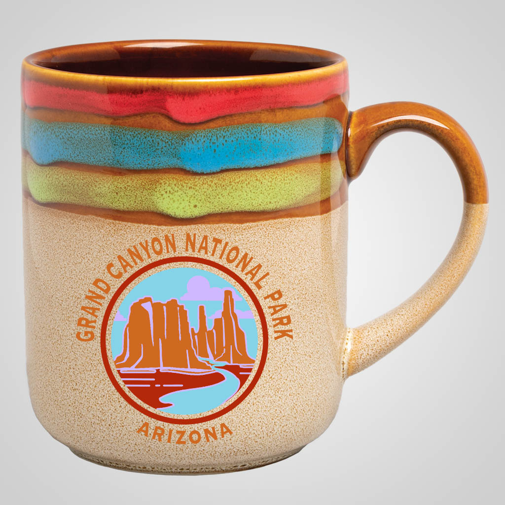 18883PPM - Rainbow Top Mug, Multi-Color Print