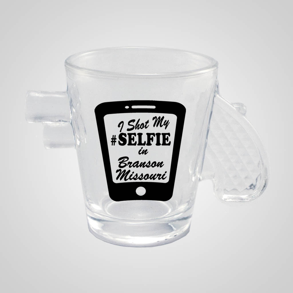 18902PP - Clear Pistol Shot Glass - 1 Color Print