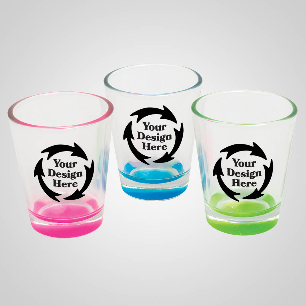 18903PP - Pastel Color Base Shot Glass - 1 Color Print
