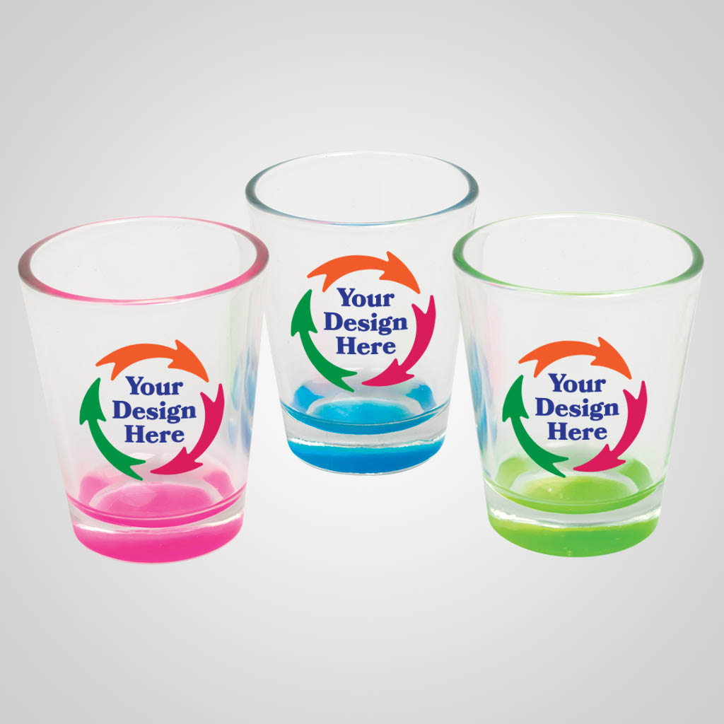 18903PPM - Pastel Color Base Shot Glass - Multi Color Print
