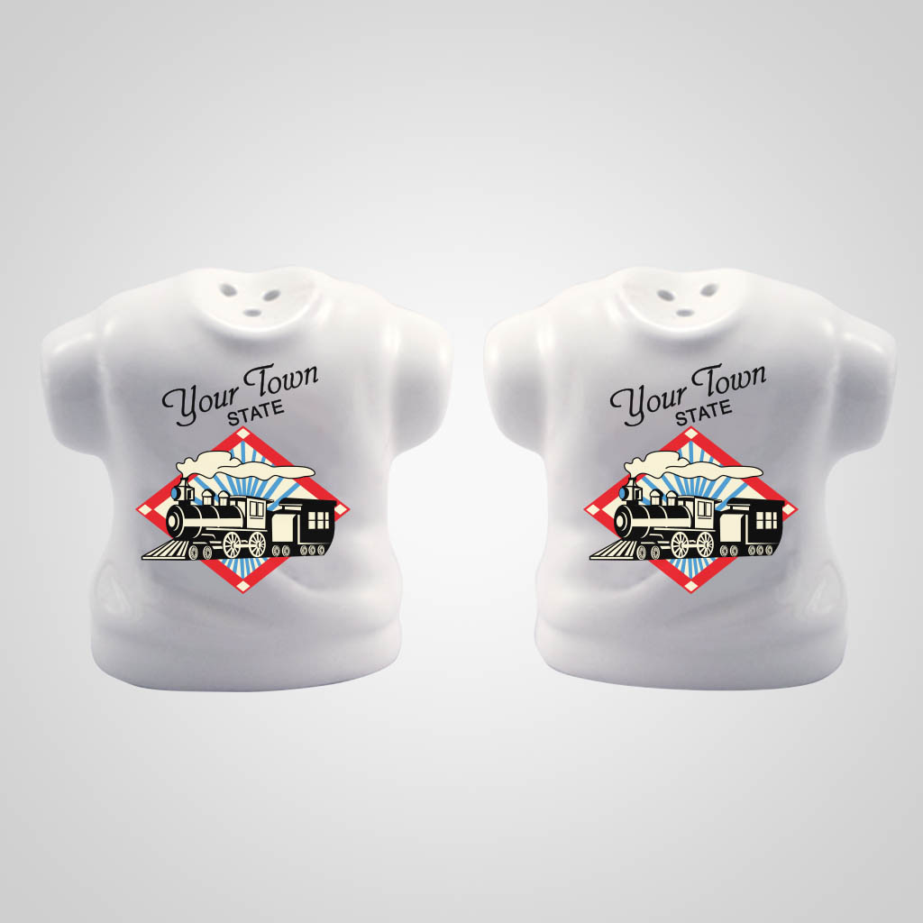 18904PPM - White T-Shirt Salt & Pepper, Multi-Color Print