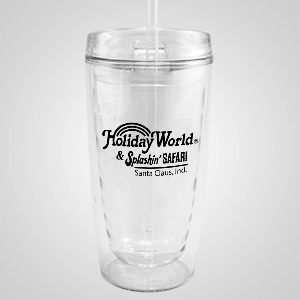 18912PP - Clear Travel Tumbler - 1 Color Print