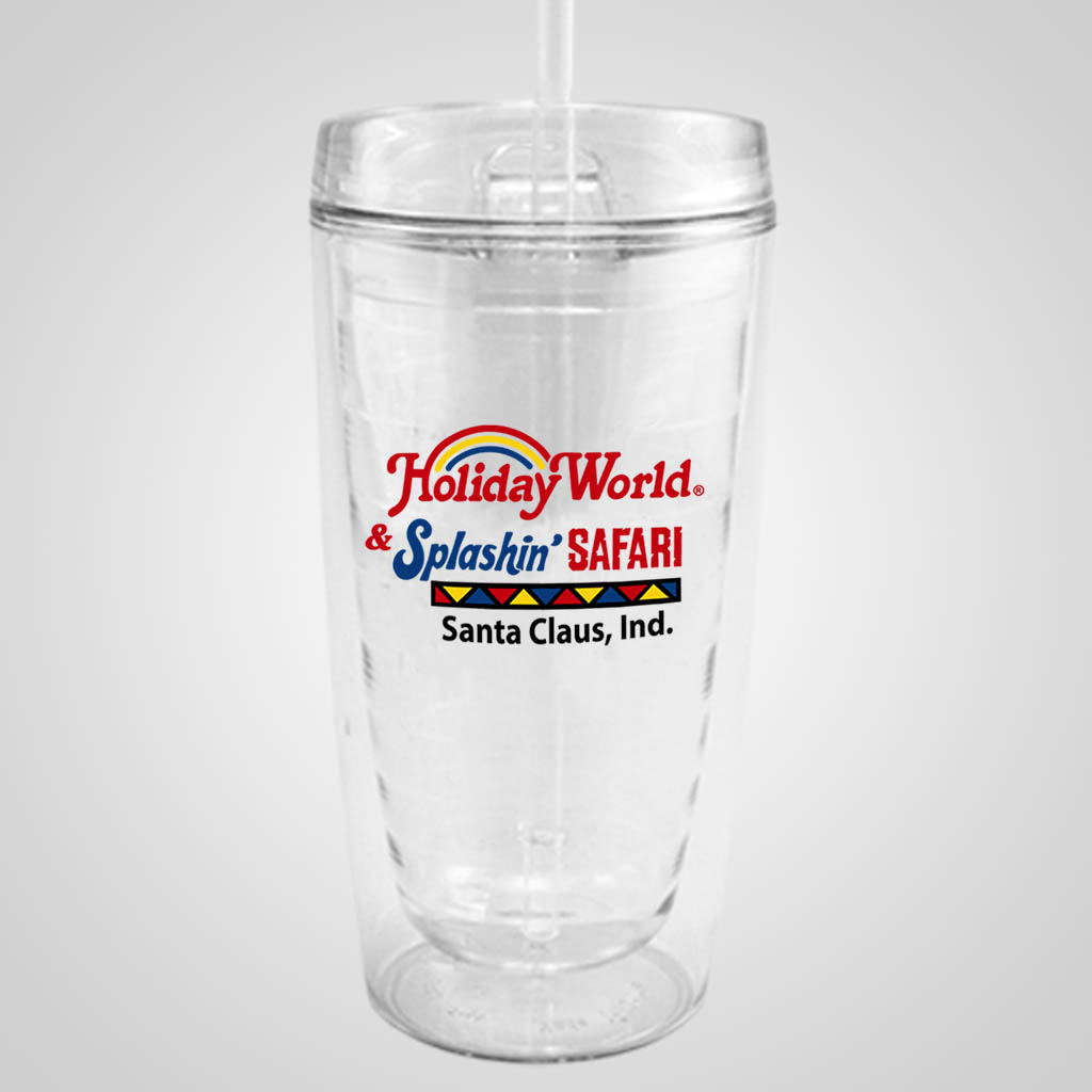 18912PPM - Clear Travel Tumbler - Multi - Color Print