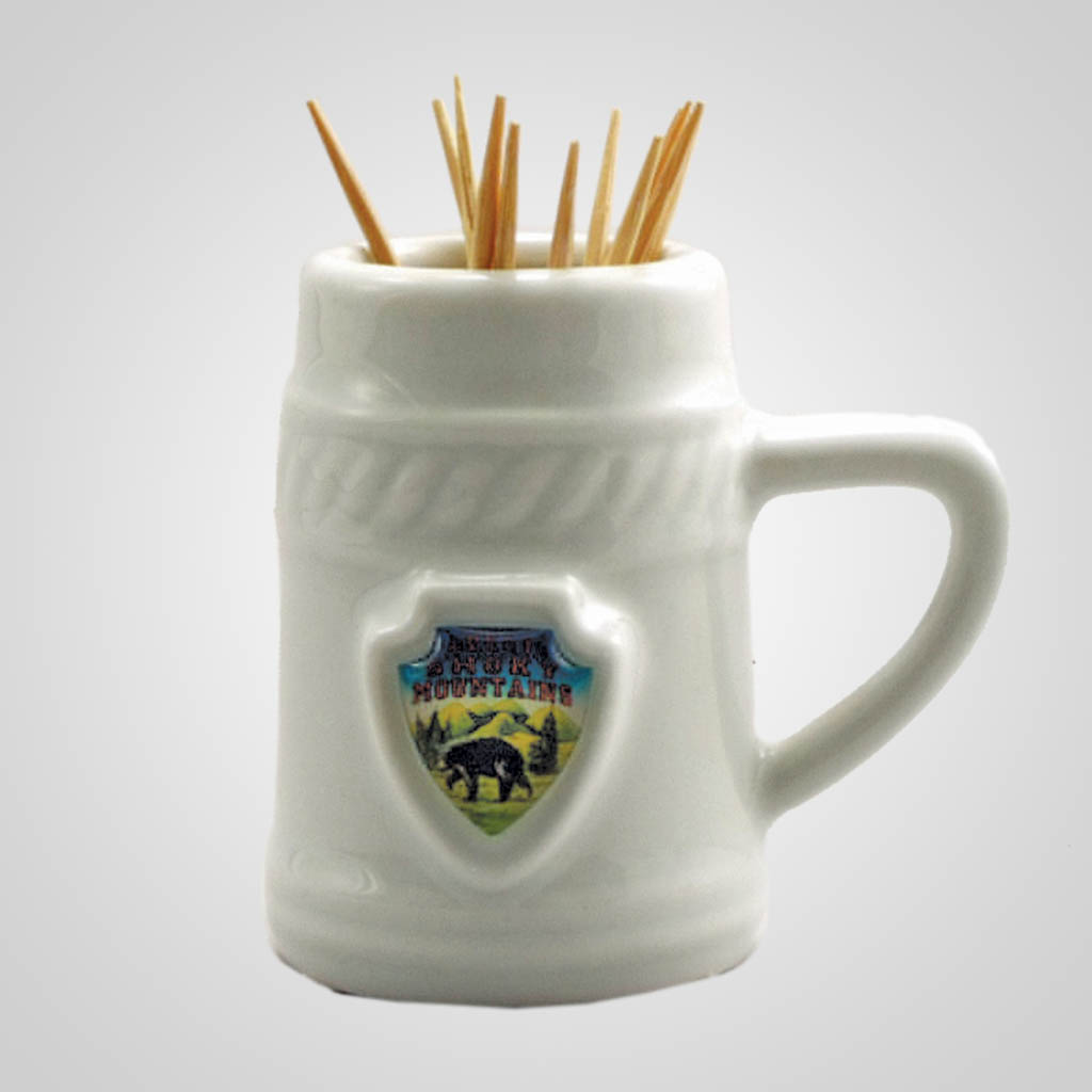 18915 - Stein Toothpick Holder With Shield