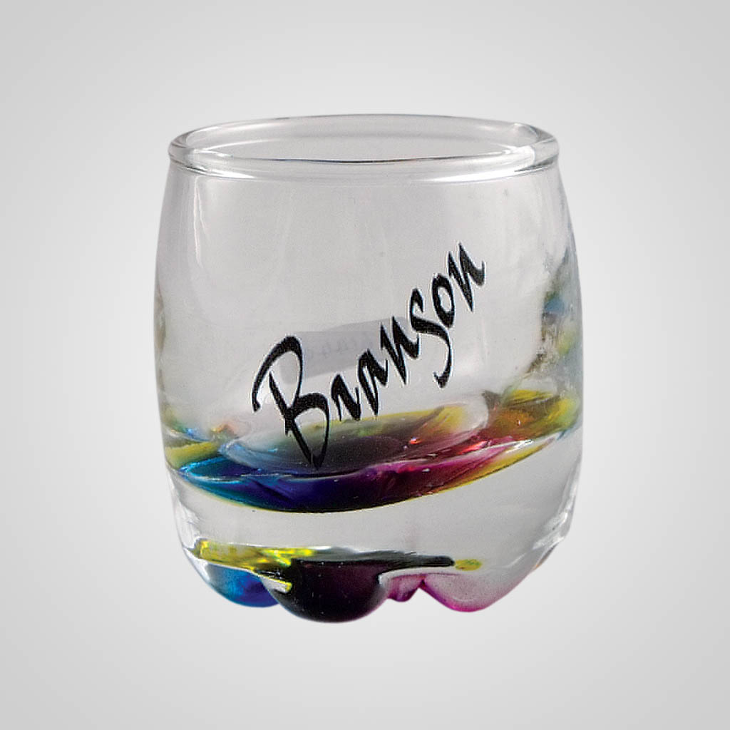 18918PP - Rainbow Bead Shot Glass - 1 Color Print