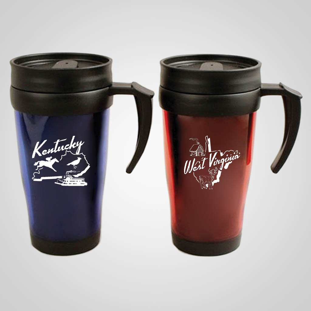 18920PP - Travel Mug w/ Handle - 1 Color Print