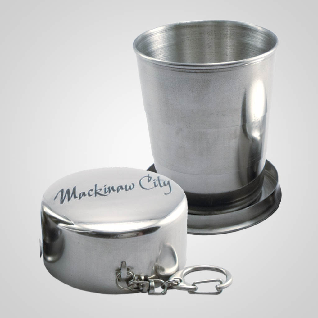 18923PP - Stainless Steel Collapsible 5oz. Cup - 1 Color Print