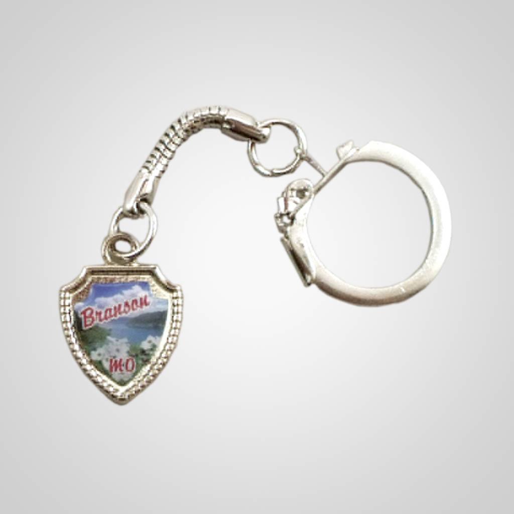 19014 - Metal Shield Keychain