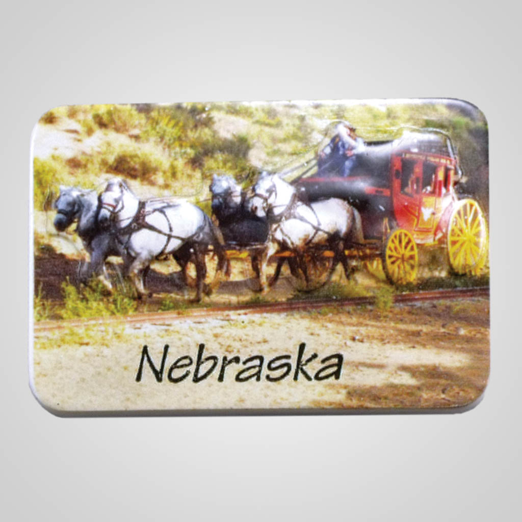 19015 - Poly Molded Stagecoach Magnet, Name-Drop