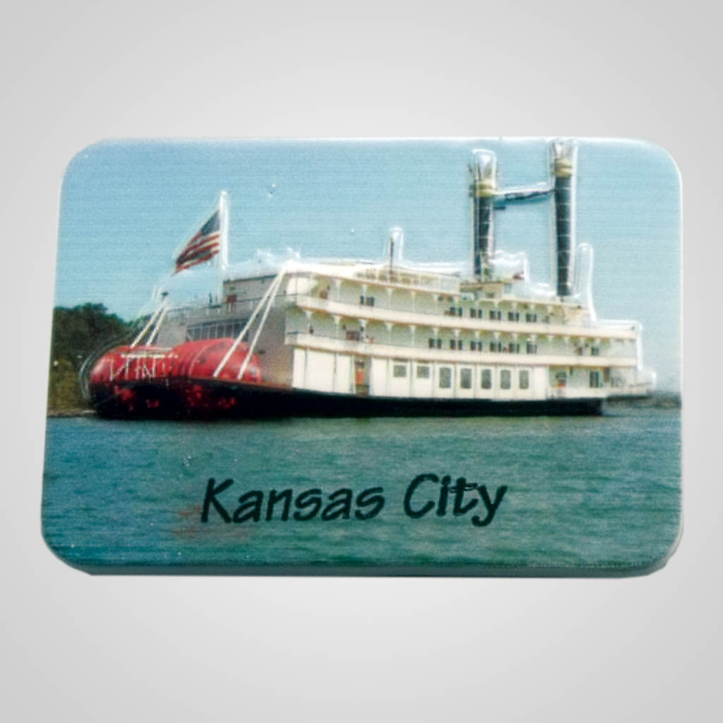 19016 - Poly Molded Riverboat Magnet, Name-Drop