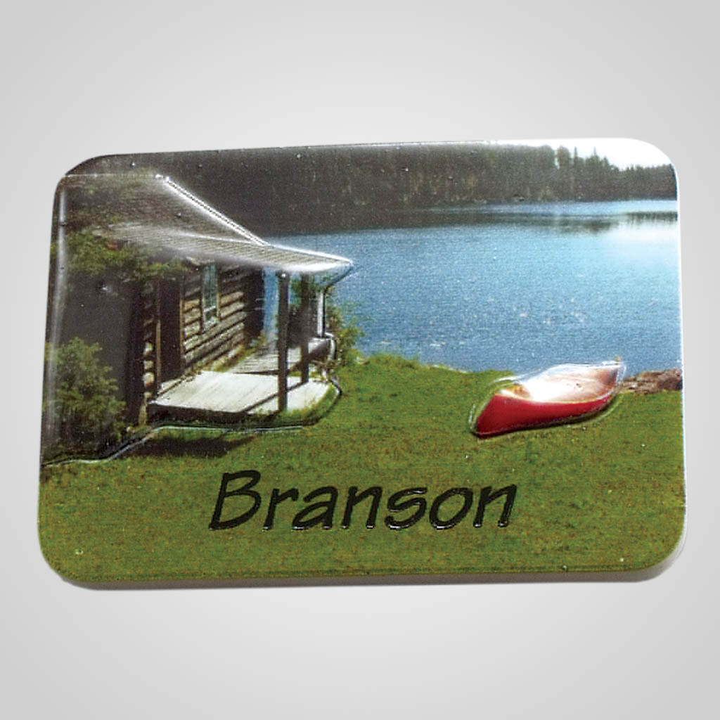 19017 - Poly Molded Lake Cabin Magnet, Name-Drop