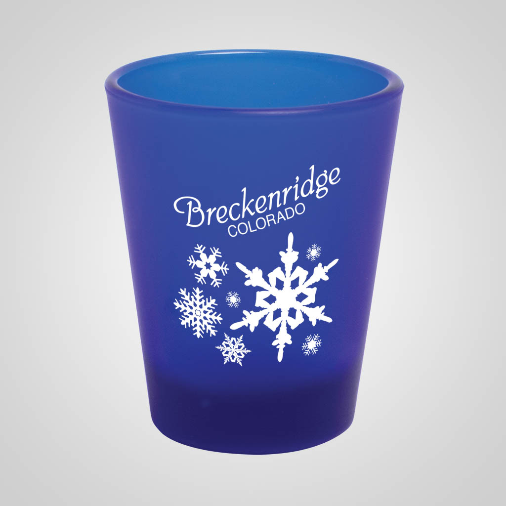 19031PP - Cobalt Blue Frosted Shot Glass