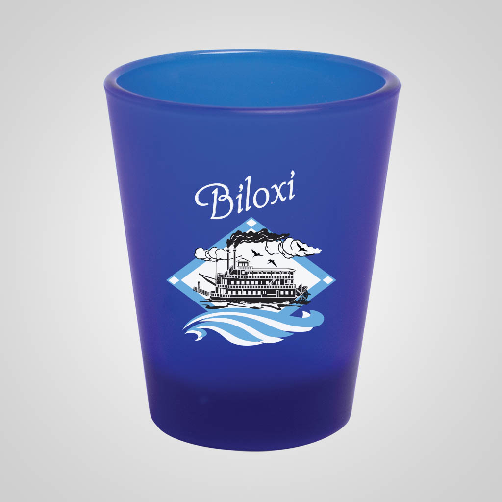 19031PPM - Cobalt Blue Frosted Shot Glass