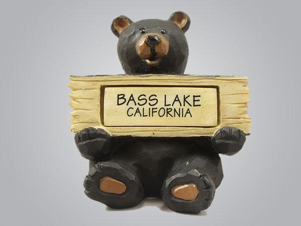 19053PP - Sitting Bear Holding Sign