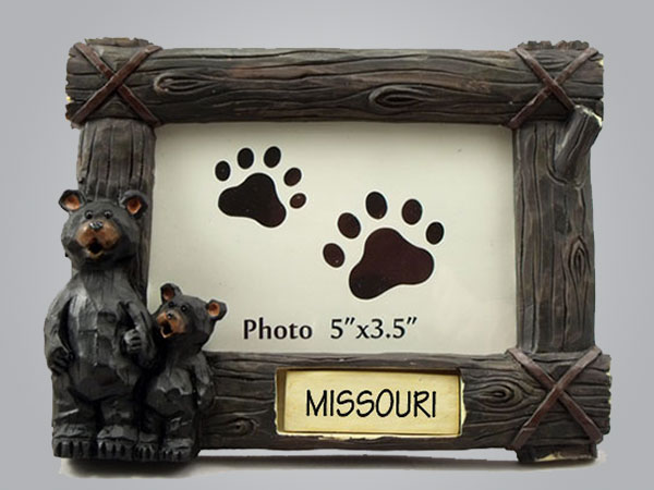 19054PP - Logs and Bears Photo Frame