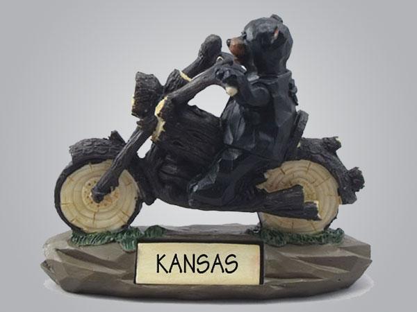 19055PP - Bear on Motorcycle