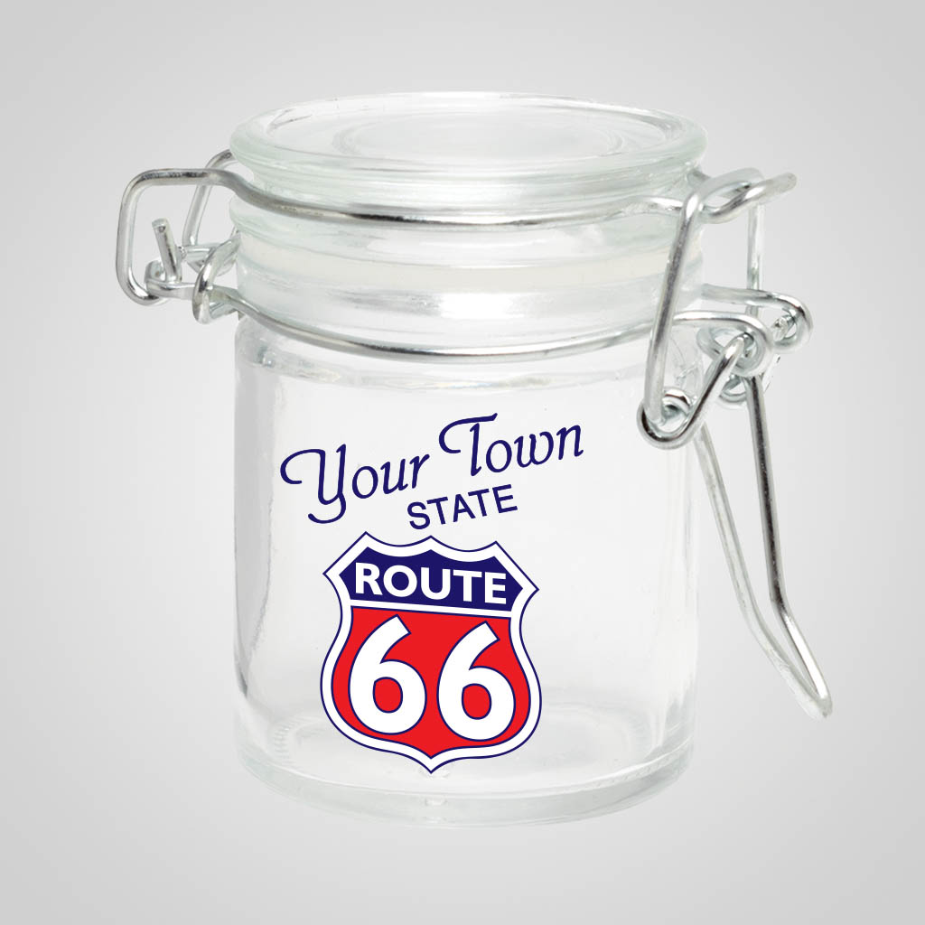 19155PPM - To Go Shot Glass, Multi-Color Print